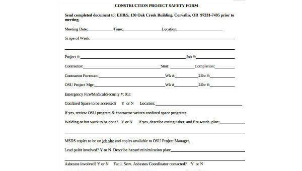 safety plan for construction project pdf