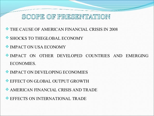 the great financial crisis causes and consequences pdf