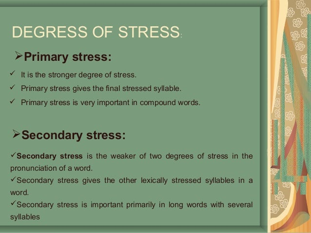 primary and secondary stress in english pdf