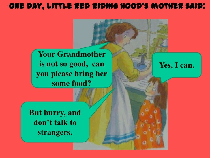 red riding hood story with pictures pdf