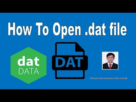 how to open dat file in pdf