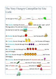 the very hungry caterpillar text pdf